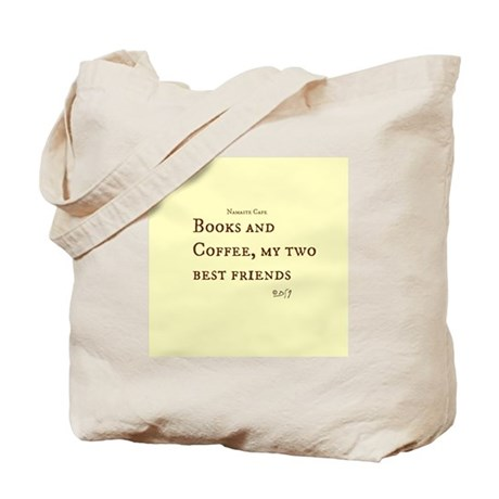 Books and Coffee BFF Tote Bag