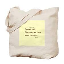 Books and Coffee BFF Tote Bag