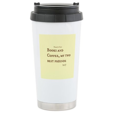 Books and Coffee BFF Stainless Steel Travel Mug