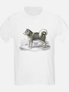 Eskimo Dog (Front) Kids T-Shirt