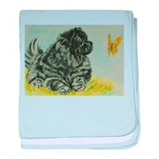 Chow Chow Dog with Butterfly baby blanket