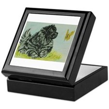 Chow Chow Dog with Butterfly Keepsake Box
