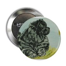 """Chow Chow Dog with Butterfly 2.25"""" Button"""
