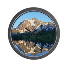 Mt Shuksan over Picture Lake Wall Clock