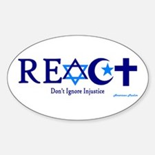 reACT Oval Decal