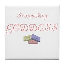 Soapmaking Goddess Tile Coaster
