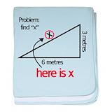 Find x funny geometry math Blanket