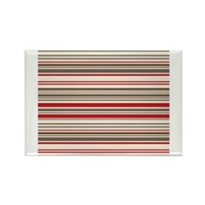 Red Gray Brown Stripes Rectangle Magnet (10 pack)