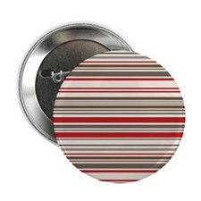 """Red Gray Brown Stripes 2.25"""" Button (10 pack)"""