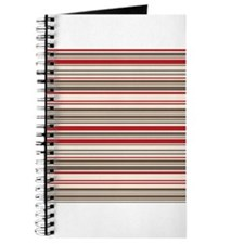 Red Gray Brown Stripes Journal