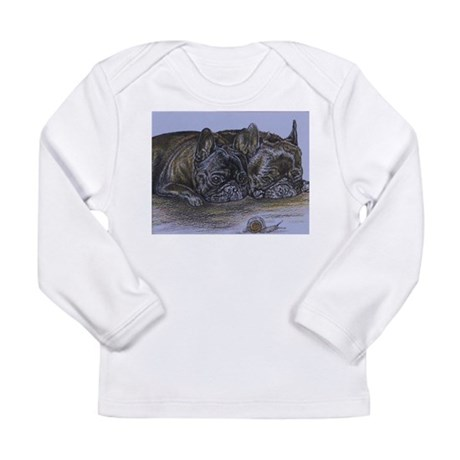 French Bulldogs with Snail Long Sleeve Infant T-Sh