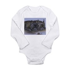 French Bulldogs with Snail Long Sleeve Infant Body