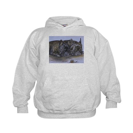 French Bulldogs with Snail Kids Hoodie