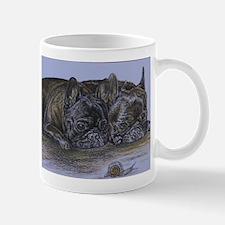 French Bulldogs with Snail Mug