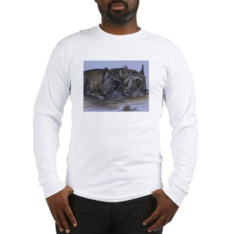 French Bulldogs with Snail Long Sleeve T-Shirt