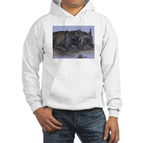 French Bulldogs with Snail Hooded Sweatshirt