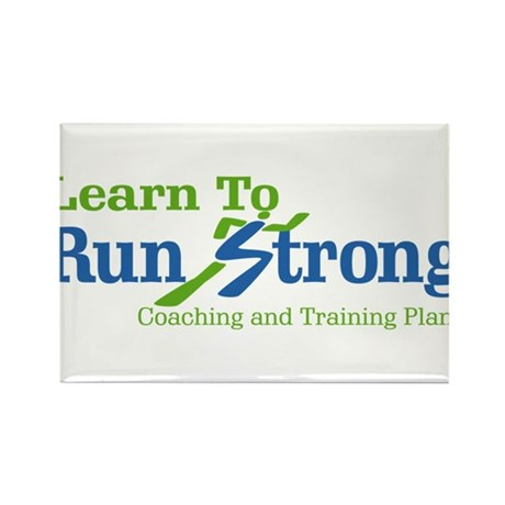 Learn To Run Strong Rectangle Magnet (10 pack)