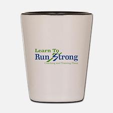 Learn To Run Strong Shot Glass