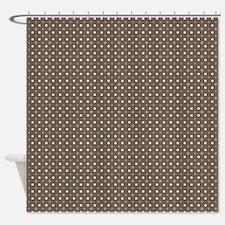 Brown Polka Dots Shower Curtain