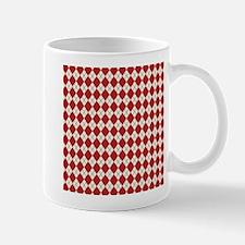 Red Ivory Argyle Mug