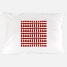 Red Ivory Argyle Pillow Case