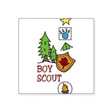 "Boy Scout Square Sticker 3"" x 3"""