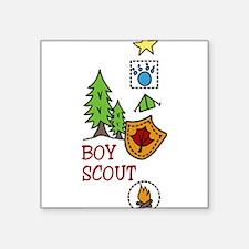 """Boy Scout Square Sticker 3"""" x 3"""""""