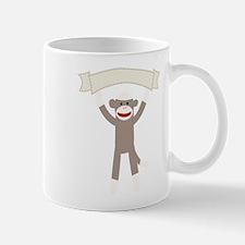 Sock Monkey Banner Mug