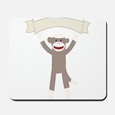 Sock Monkey Banner Mousepad
