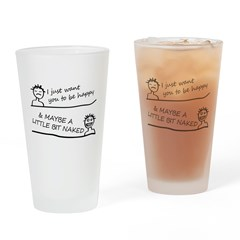 I just want be happy Drinking Glass
