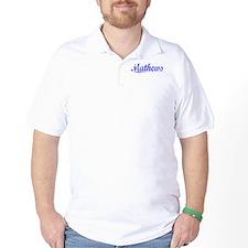 Mathews, Blue, Aged T-Shirt