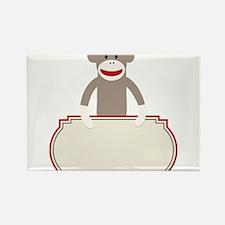 Sock Monkey Announcement Rectangle Magnet