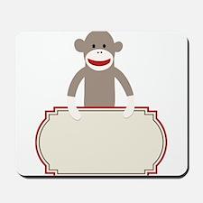 Sock Monkey Announcement Mousepad