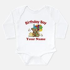 Birthday Boy Bear Long Sleeve Infant Bodysuit