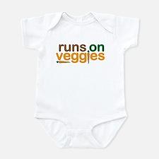 Runs on Veggies Infant Bodysuit