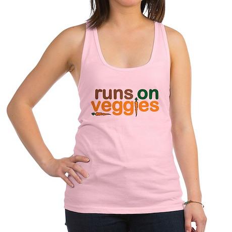 Runs on Veggies Racerback Tank Top