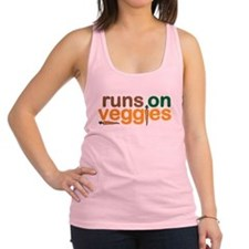 Runs on Veggies Racerback Tank Top