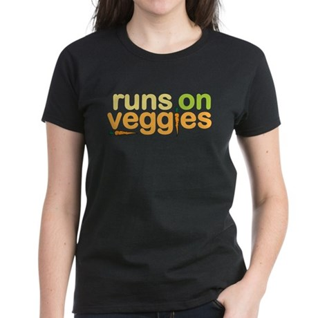 Runs on Veggies Women's Dark T-Shirt