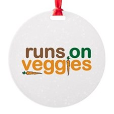 Runs on Veggies Ornament