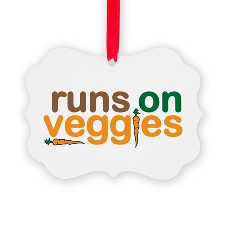 Runs on Veggies Picture Ornament
