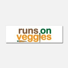 Runs on Veggies Car Magnet 10 x 3