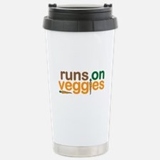Runs on Veggies Stainless Steel Travel Mug