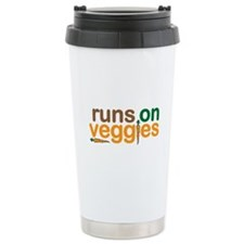 Runs on Veggies Thermos Mug