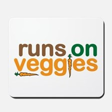 Runs on Veggies Mousepad