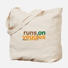 Runs on Veggies Tote Bag