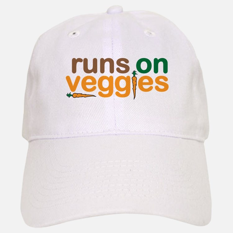 Runs on Veggies Baseball Baseball Cap