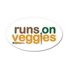 Runs on Veggies Wall Decal