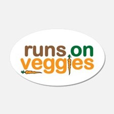 Runs on Veggies Wall Decal