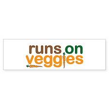 Runs on Veggies Bumper Sticker
