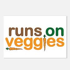 Runs on Veggies Postcards (Package of 8)